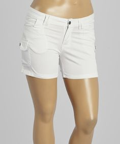 Another great find on #zulily! White Cargo Shorts - Plus by 1826 Jeans #zulilyfinds