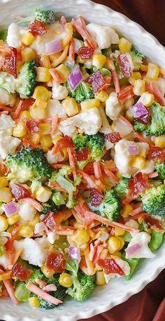 Vegetable Salad Recipes, Best Salad Recipes, Salad Dressing Recipes, Vegetable Dishes, Healthy Recipes, Cold Vegetable Salads, Lettuce Salad Recipes, Healthy Salads, Healthy Eating
