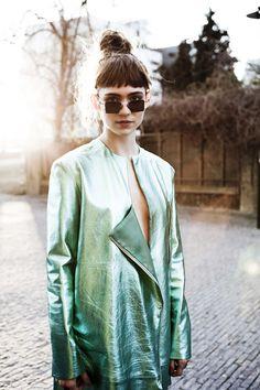 Look minty fresh in cool blue and green tones. #fashiondilemma #motilostylist