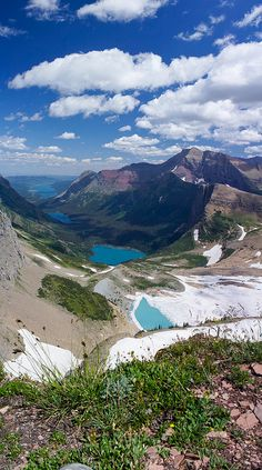 Glacier National Park -Upper Grinnell, Grinnell, Josephine and Swiftcurrent Lakes