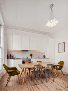 ChicDecó: | Beautiful period house in London • Kitchen • Carrara marble