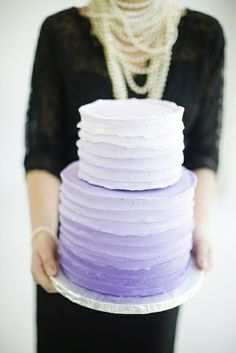 Purple cake...maybe add some purple flowers to it?
