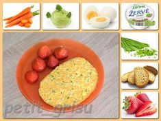 Chlebík s pomazánkou a jahody (9m) Oatmeal, Breakfast, Food, The Oatmeal, Morning Coffee, Rolled Oats, Essen, Meals, Yemek