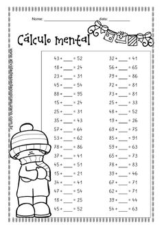 Cálculo mental | Atividades Pedagogica Suzano Maths Exam, Math Tutor, Mental Maths Worksheets, Math Exercises, Math Drills, English For Beginners, Niklas, Primary Maths, Math Practices