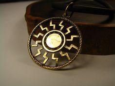 Slavic Amulet Black Sun Symbol Pendant Pagan by ArtefaktumUA