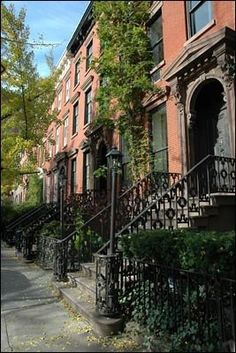 Leroy Street, famous home to The Huxtabul House is often used for filming, because the other side of the street has no buildings to obstruct light. It's been used in Autumn in New York, Law & Order, The Job and Wait Until Dark.