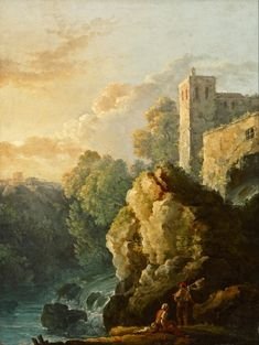 Bonavia, Carlo - Castle and Waterfall Dulwich Picture Gallery, Sir Francis, Google Art Project, Old Street, House In The Woods, Art Google, 18th Century, Around The Worlds, Romantic