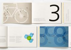 Caixa Seguros e Saúde Sustainability Report 2011 by Liquid Brand Studio, via Behance