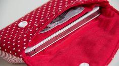 Schnittmuster Handytasche mit Innenfächern Smartphones, Bowie, Blog, Pouches, Dressmaking, Sewing, Accessories, Sewing Patterns Free, Tutorials