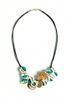 #necklace #earthenware #embroidery #handcraft #claymodelling #enameling #crafts #craftsmen