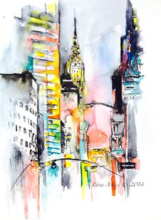 Hey, I found this really awesome Etsy listing at https://www.etsy.com/listing/203246441/new-york-city-inspired-original-abstract