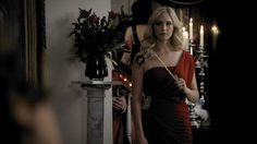 Caroline Forbes | TVD 02x07 | Masquerade Vampire Dairies, Caroline Forbes, Movie Costumes, Vampire Diaries The Originals, Halloween Dress, Character Outfits, Masquerade, That Look, Lady
