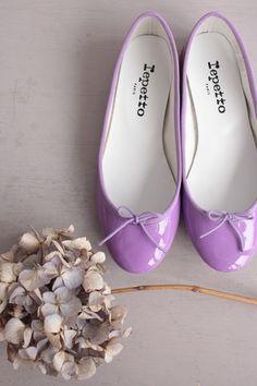 lilac purple #flats | #Repetto