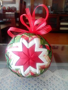 Bolas de navidad echas a mano