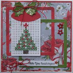 Trijntjes Kaarten: Kerstkaart week 6 Tiny Cross Stitch, Cross Stitch For Kids, Cross Stitch Cards, Cross Stitch Embroidery, Cross Stitch Patterns, Cross Stitch Christmas Ornaments, Christmas Cross, Fabric Crafts, Paper Crafts