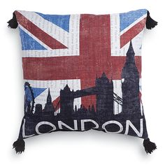 London Icon Pillow - Furniture, Home Decor and Home Furnishings, Home Accessories and Gifts   Expressions