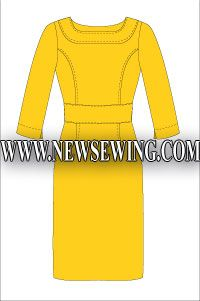 Sheath dress Free Pattern - very classy.  Page has to be translated, but the pattern is easily downloadable and not too complicated.  At http://www.newsewing.com/view_post.php?id=522