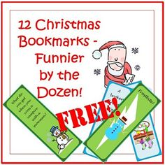 Classroom Freebies: Christmas Riddles as Bookmarks!