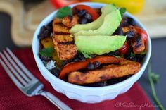 Pair the cilantro lime rice with the fajita fixins and you have Grilled Chicken Fajita Bowls with Cilantro Lime Rice! Sounds delish, doesn't it?!