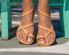 Leather Sandals with StrapsGreek SandalsHandmade