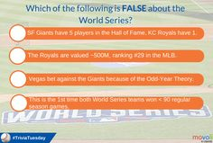 Before the Kansas City Royals take the mound against the San Francisco Giants in #WorldSeries Game 1, answer our #TriviaTuesday question!
