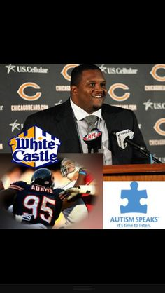 "White Castle celebrates their newest ""Team Member"". Anthony Adams will appear in a number of promo videos promoting his Training Camp day at work at 6290 Grand Ave. Gurnee, IL 60031 tomorrow from 12pm - 2pm.  Upon arriving for ""work"" Adams will serve customers, sign autographs and help drive awareness for Autism.  As a part of the overall promotion, White Castle will donate $1.00 for every like, share, comment and retweet."
