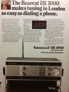 The Bearcat DX-1000 Receiver