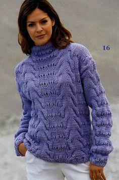 Пуловер спицами с воротником-стойкой. Женский пуловер спицами схема и описание | Я Хозяйка