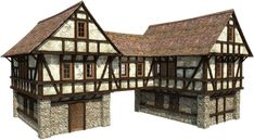 Minecraft, middle ages, manor house, building, shed png Minecraft Houses Survival, Minecraft Houses Blueprints, House Blueprints, Minecraft Medieval House, Medieval Houses, Viking House, Townhouse Designs, Building Concept, Fantasy House