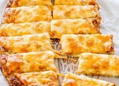 "Cheesy Cauliflower ""bread"" sticks."