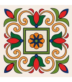 W1600250 Mosaic Patterns, Pattern Art, Embroidery Patterns, Ceramic Tile Art, Ceramic Painting, Pottery Painting, Fabric Painting, Mandala Design, Mandala Art