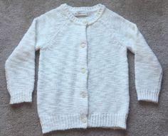 Zara Knit Women's Creme White Wool Acrylic Button Up Sweater Cardigan EUC Large   eBay