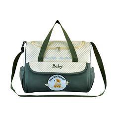 Olive/Cream Zip Top Diaper Bag, 54.5% discount @ PatPat Mom Baby Shopping App
