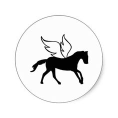 Horse - Wings Stickers #Horse #Wings #Riding $6.75