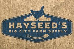 This is where I bought my seeds for the community garden Typographie Logo, Chicken Logo, Farm Business, Urban Farmer, Rustic Logo, City Farm, Logo Restaurant, Restaurant Ideas, Chinese Restaurant