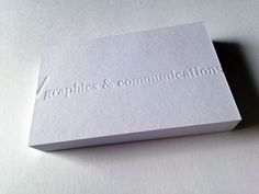 High Quality Debossing Cotton Business Cards