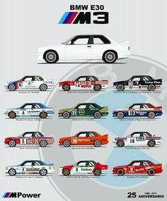 E30 M3 twenty five year anniversary poster
