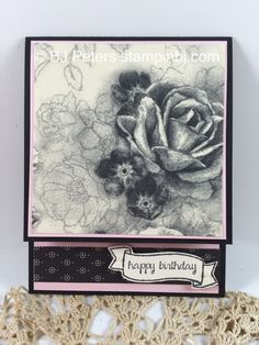 Stampin' Up!'s Timeless Elegance Designer Series Paper is stunning!  Creates a card without stamping!  http://www.stampinbj.com/2015/09/timeless-elegance-beauty.html