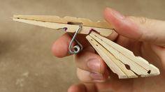How to Make a Mini Matchstick Gun - (Clothespin Pistol)