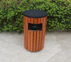 Street garbage bin wooden outdoor trash bin, View outdoor trash bin, Gavin Product Details from Guangzhou Gavin Urban Elements Co., Ltd. on Alibaba.com