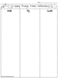 All Living Things Move Worksheet