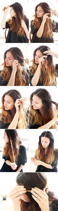She Lets Her Hair Down: Tutorial :: Mini Crown Braid