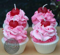 Vanilla Soy Cupcake Candles Scented Cupcakes by BrooklynWicksLLC