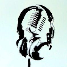Headphones Acrylic on Canvas