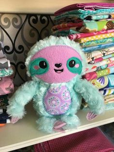 Teeth Squishies,Kawaii Tooth Squishy Slow Rising Stress Toy for Play 1 Piece (Pink) - Baby Sloth, Cute Sloth, Stuffed Animal Patterns, Diy Stuffed Animals, Stuffed Toys, Sewing Crafts, Sewing Projects, Sewing Ideas, Sloth Socks