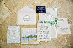 Bride Lindsay Levine worked with Cheree Berry to create an elegant and simple invitation. Destination Wedding Invitations, Rehearsal Dinner Invitations, Custom Wedding Invitations, Wedding Invitation Suite, Invites, Wedding Paper, Our Wedding, Seating Cards, Welcome To The Party