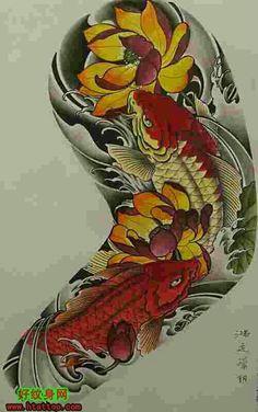 Ideas Tattoo Sleeve Mannen Japans For 2019 Japanese Tattoo Art, Japanese Tattoo Designs, Japanese Sleeve Tattoos, Pez Koi Tattoo, Tattoos For Guys, Cool Tattoos, Koi Tattoo Design, Mangas Tattoo, Koi Dragon