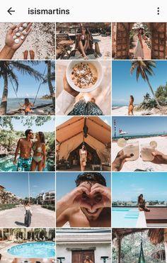 #inspiração de #feed Instagram Feed Goals, Instagram Feed Ideas Posts, Instagram Grid, Instagram Pose, Instagram Design, Ig Feed Ideas, Organizar Feed Instagram, Beach Instagram Pictures, Photography Filters