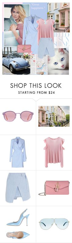 """""""Great hapiness"""" by lovemeforthelife-myriam ❤ liked on Polyvore featuring RetroSuperFuture, WALL, MM6 Maison Margiela, Steve J & Yoni P, J.W. Anderson, Casadei and 3.1 Phillip Lim"""