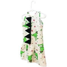Must Love Dinosaurs Children's Dress with Spikes